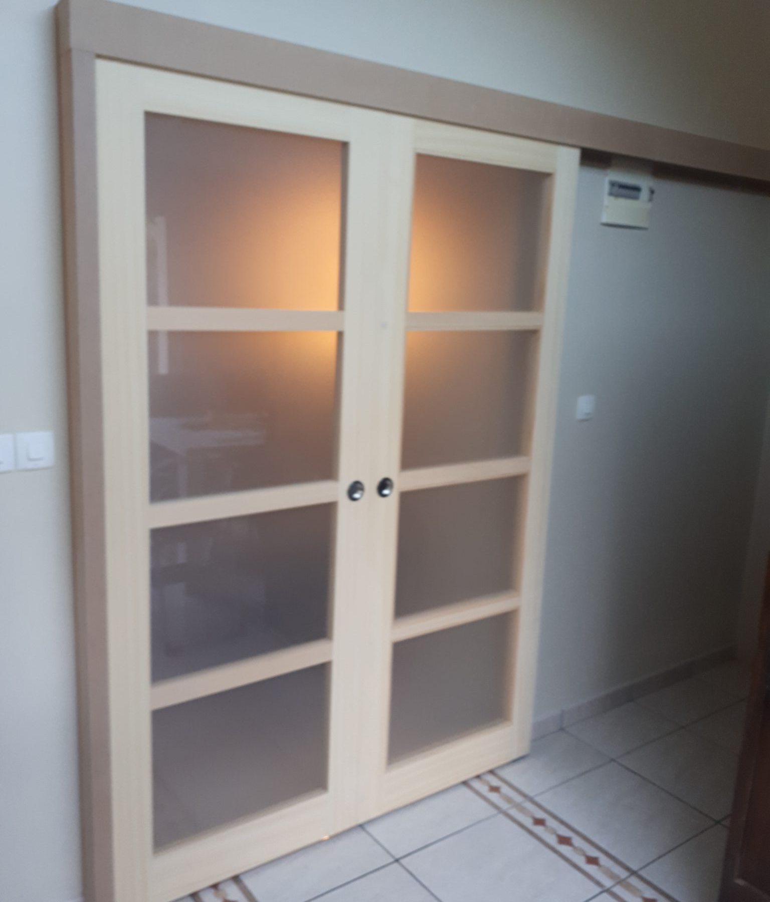 Barre Pour Porte Coulissante porte coulissante double - portes intérieures | menuiserie